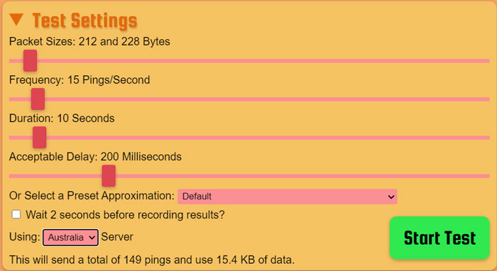Packet-loss-test